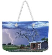 Country Horses Lightning Storm Ne Boulder County Co Hdr Weekender Tote Bag by James BO  Insogna