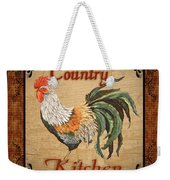 Country Kitchen Rooster Weekender Tote Bag