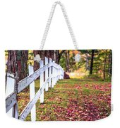 Country Lane Fall Foliage Vermont Weekender Tote Bag