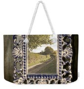 Country Lane Reflected In Mirror Weekender Tote Bag by Amanda Elwell