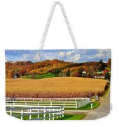 Country Lane Weekender Tote Bag by Frozen in Time Fine Art Photography