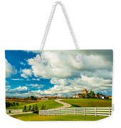 Country Living Painted Weekender Tote Bag