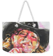 Country Music Artist...willie Nelson Weekender Tote Bag