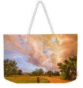 Country Road Into The Storm Front Weekender Tote Bag