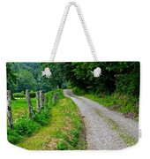 Country Road Weekender Tote Bag by Frozen in Time Fine Art Photography