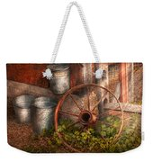 Country - Some Dented Pails And An Old Wheel  Weekender Tote Bag