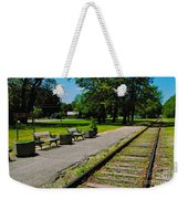 Country Train Station Weekender Tote Bag
