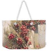 Country Wreath With Red Berries Weekender Tote Bag