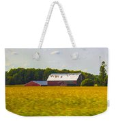 Countryside Landscape With Red Barns Weekender Tote Bag
