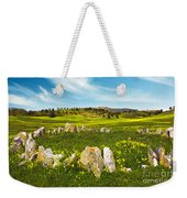 Countryside With Stones Weekender Tote Bag