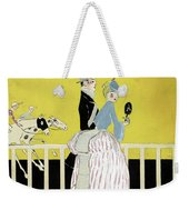 Couple At The Races, 1916 Weekender Tote Bag