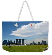 Couple Flies Kite Marina Bay Sands Singapore Weekender Tote Bag
