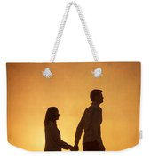 Couple Holding Hands At Sunset Weekender Tote Bag