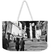 Couple In Times Square Weekender Tote Bag