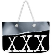 Couple Making Love And Xxx Sign Black And White Weekender Tote Bag