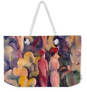 Couple On The Forest Track Weekender Tote Bag