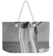 Couple On The Maine Shore Weekender Tote Bag