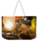 Couple Reading By Lantern, India Weekender Tote Bag