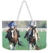 Couple Riding Weekender Tote Bag
