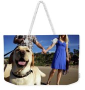 Couple Take Their Dogs For A Walk Weekender Tote Bag