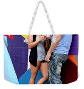 Couple Talking Weekender Tote Bag