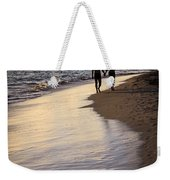 Couple Walking On A Beach Weekender Tote Bag