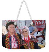 Couples In Polish National Costumes Weekender Tote Bag