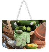 Courgette Basket With Garden Tools Weekender Tote Bag
