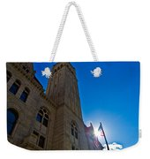 Courthouse Tower Weekender Tote Bag