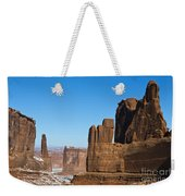 Courthouse Towers Arches National Park Utah Weekender Tote Bag