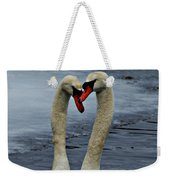 Courting Swans Weekender Tote Bag