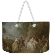 Courtly Scene In A Park, C.1730-35 Weekender Tote Bag