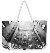 Courtyard In Black And White Weekender Tote Bag