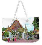 Courtyard In Wat Po In Bangkok-thailand Weekender Tote Bag