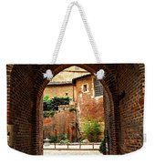 Courtyard Of Cathedral Of Ste-cecile In Albi France Weekender Tote Bag