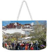Courtyard Of Potala Palace In Lhasa-tibet Weekender Tote Bag