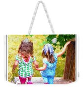 Cousins Helping Each Other Weekender Tote Bag