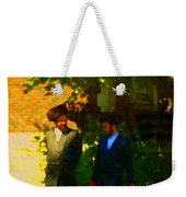 Covenant Conversation Two Men Of God Hasidic Community Montreal City Scene Rabbinical Art Carole Spa Weekender Tote Bag