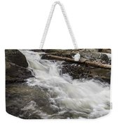 Covered Bridge And Waterfall Weekender Tote Bag by Edward Fielding
