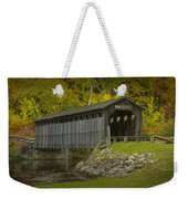 Covered Bridge In Fall Weekender Tote Bag