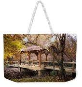 Covered Bridge On The River Walk Weekender Tote Bag