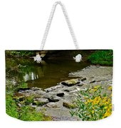 Covered Bridge Weekender Tote Bag by Frozen in Time Fine Art Photography