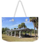 Covered Picnic Tables Weekender Tote Bag