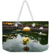 Covered Stones With Umbrella In Ritual Weekender Tote Bag