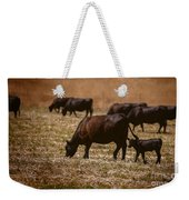 Cow And Calf Grazing Weekender Tote Bag