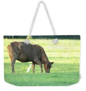 Cow And Friend Abstract Weekender Tote Bag