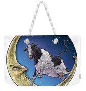 Cow And Moon Weekender Tote Bag