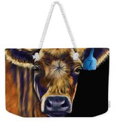 Cow Art - Lucky Number Seven Weekender Tote Bag