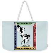 Cow Artist Cow Art Weekender Tote Bag