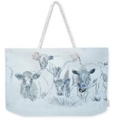 Cow Drawing Weekender Tote Bag